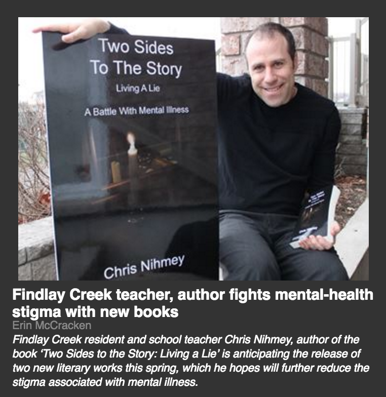 Findlay Creek Author Fights Mental Health Stigma