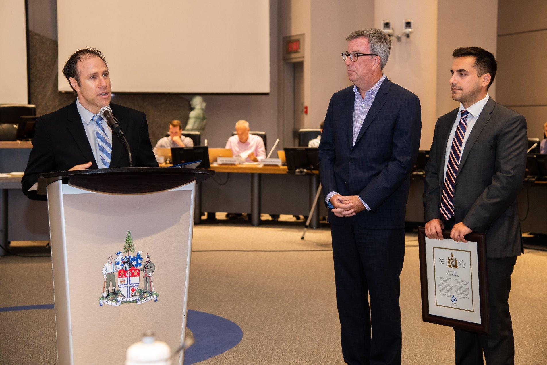 Mayor's Builder Award City of Ottawa Chris Nihmey