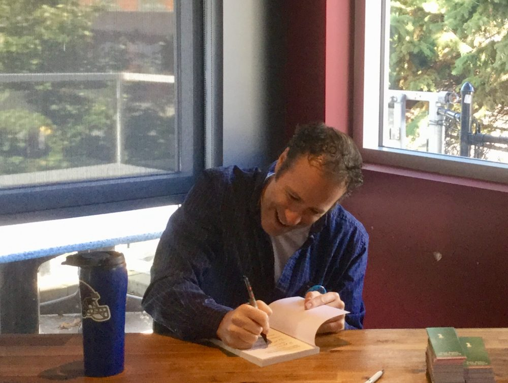 Mental Health Advocate Chris Nihmey Signs Books at the 2018 Launch of Reflections
